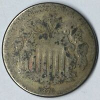 1870 5C SHIELD NICKEL G UNCERTIFIED
