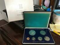ROYAL MINT 1977 BRITISH VIRGIN ISLANDS SILVER PROOF COIN SET