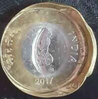 INDIA RS.10/  COIN MULTIPLE STRIKE & DIE CAP ERROR