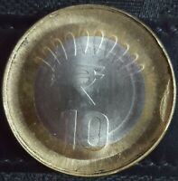 INDIA RS.10/  COIN DIE CAP & OBVERSE COUNTER BROCKAGE ERROR