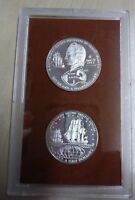 1973 COOK ISLANDS PROOF 2 COIN SET  F 32