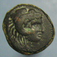 ALEXANDER THE GREAT LIFETIME ISSUE AE 16 WITH HEAD OF HERCULES