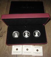 2011 CANADA CONTINUITY OF THE CROWN 3X $15 SILVER COIN COLLECTION   HIGH RELIEF