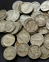 CIRCULATED MERCURY DIME 90  SILVER