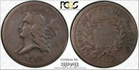 1793 1/2C LIBERTY CAP HALF CENT F-15 PCGS/CAC, FORMALLY VF-20, AWESOME COIN