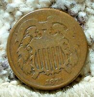 1871 2 CENT PIECE-G-VG CONDITION