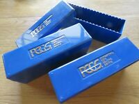 3  PCGS BLUE BOXES   HOLDS 20 SLABBED COINS EA.