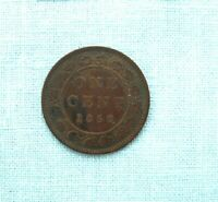 1858 CANADIAN FIRST YEAR LARGE CENT