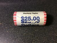 PRESIDENTIAL DOLLAR COINS ZACHARY TAYLOR $25.00 ROLL UNOPENED AND UNCIRCULATED