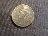 1837 CORONET HEAD LARGE CENT WITH PROBLEMS