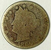1884-P  5C LIBERTY HEAD NICKEL 19UOC0519 ONLY 50 CENTS FOR SHIPPING