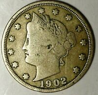 1902-P  5C LIBERTY HEAD NICKEL, 19UOC0505  ONLY 50 CENTS FOR SHIPPING
