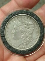 1889-P VAM14 MORGAN SILVER VARIETY ONE DOLLAR COIN DOUBLED 18 TRIPLED 9 / ERICA