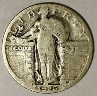 1926-S 25C STANDING LIBERTY QUARTER 18SOC2404-2 90 SILVER 50 CENTS FOR SHIPPING