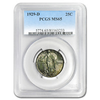 1929-D STANDING LIBERTY QUARTER MINT STATE 65 PCGS