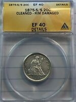 1875 S/S 20 PIECE EXTRA FINE CONDITION CERTIFIED ANACS
