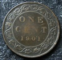 CANADIAN 1901 1 CENT LARGE BRONZE PENNY QUEEN VICTORIA
