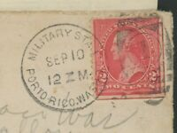 1898  US PUERTO RICO MILITARY FIELDPOST COVER ENTIRE SPANISH
