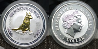 2006 AUSTRALIA LUNAR YEAR OF THE DOG   1 OZ 999 PURE SILVER