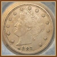 1883 N/C LIBERTY V NICKEL, FIRST YEAR COIN VF-EF