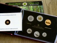 CANADA 2013 $2 DOLLAR SPECIMEN SET SPECIAL EDITION YOUNG WILDLIFE BLACK BEAR