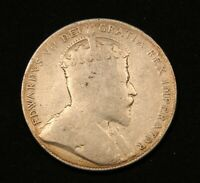 1907 CANADA SILVER 50 CENTS KING EDWARD VII STERLING SILVER