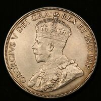 1936 CANADA SILVER DOLLAR ONE YEAR TYPE KING GEORGE V HIGH GRADE COIN