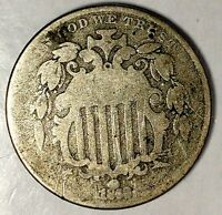 1868-P 5C SHIELD NICKEL 18HTU3005 ONLY 50 CENTS FOR SHIPPING