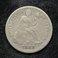 1888 SILVER DIME SEATED LIBERTY BB2678