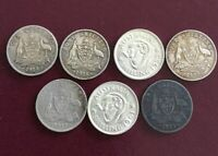 MIXED AUSTRALIA SILVER COINS INC 1911 ONE SHILLING 157