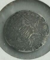1858 THREE CENT SILVER COIN