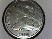 1829 CAPPED BUST DIME GREAT EXTRA FINE  DETAILS SILVER US COIN