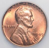 1949 ICG MINT STATE 67RD MINT STATE 67 RED LINCOLN CENT BRIGHT SHINY HIGHEST GRADE