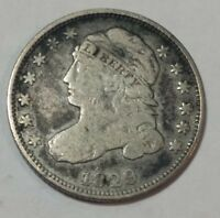 1829 CAPPED BUST U.S. SILVER DIME. VG-F LOT2