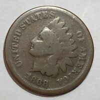 1868 STRONG GOOD INDIAN HEAD US CENT. LOT3