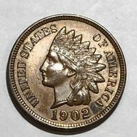 1902 BROWN UNC INDIAN HEAD CENT. LOT1