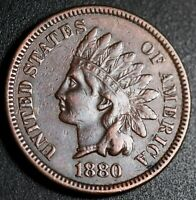1880 INDIAN HEAD CENT - WITH LIBERTY & DIAMONDS - EXTRA FINE  EF