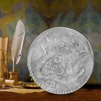 CLASSICAL BRASS SILVER DOLLAR VINTAGE COMMEMORATIVE COLLECTION COIN CRAFT GIFT