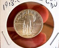 STANDING LIBERTY QUARTER 1918 S CH GEM BU   DATE FROSTED BLAZER MS