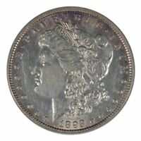1893 MORGAN DOLLAR, DOUBLE STARS, VAM 4, ANACS AU55