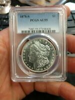 1878-S VAM 44 PCGS AU55 MORGAN SILVER ONE DOLLAR VARIETY COIN DOUBLED LIBERTY