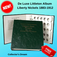 LITTLETON ALBUM LIBERTY NICKELS 1883-1912 LCA23 US MINT UNCERTIFIED ANACS PCGS