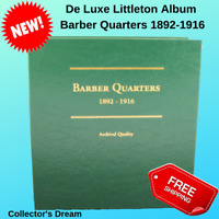 LITTLETON ALBUM BARBER QUARTERS 1892-1916 LCA26 US MINT CERTIFIED ANACS PCGS NGC