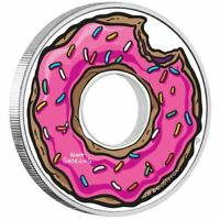 2019 THE SIMPSONS FAMILY DONUT 1 OZ. SILVER PROOF COIN