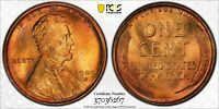 1909 S VDB LINCOLN CENT PCGS GOLD SHIELD MS65 RED NICE