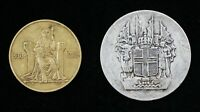 1930 ICELAND 1000 YEARS ALTHING 2 KRONUR 10 KRONER COINS NO BOX/COA   04563