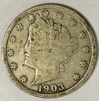 1903-P  5C LIBERTY HEAD NICKEL, 18HC1803
