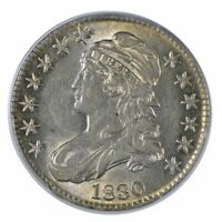 1830 CAPPED BUST HALF DOLLAR PCGS AU53 SMALL 0 199500