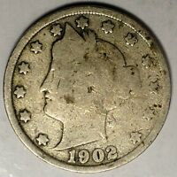1902-P  5C LIBERTY HEAD NICKEL, 18LTL1028  ONLY 50 CENTS FOR SHIPPING