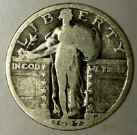 1927-P 25C STANDING LIBERTY QUARTER 19USR0427 90 SILVER 50 CENTS FOR SHIPPING